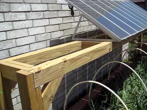 Harbor Frieght Solar Panels Hidden Frame Construction