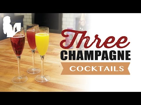 3 Easy Champagne Cocktails for Brunch by Blender Babes