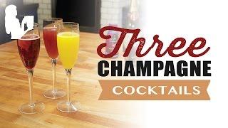 3 Easy Champagne Cocktails For Brunch By Blender Babes
