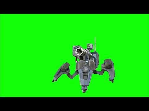 Green Screen Sci fi Robot Guards / Future Robot Guard / Sentry 2 thumbnail