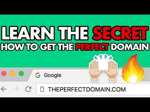 The SECRET to getting a perfect domain name ...