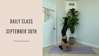 Daily Class September 30th: Tripod Headstand