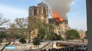 Correspondent Stefan de Vries bij brand Notre Dame - RTL NIEUWS