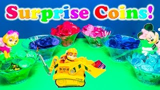 CHOCOLATE SURPRISE COINS Nickelodeon Paw Patrol Mickey Mouse  Surprise Eggs Video Surprise Egg Video