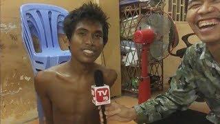 កុំសើចគាត់អីព្រោះគាត់បែកថ្នាំទេ- Khmer Hot News 04-07-2017