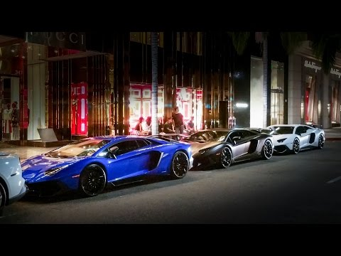 Chinese Supercar Takeover in Beverly Hills