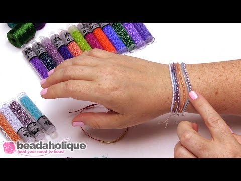 How to Make a Strung Cord Bracelet with a Sliding Square Knot Clasp