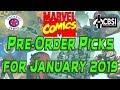 Marvel Comic Books Pre-Order Picks For January 2019
