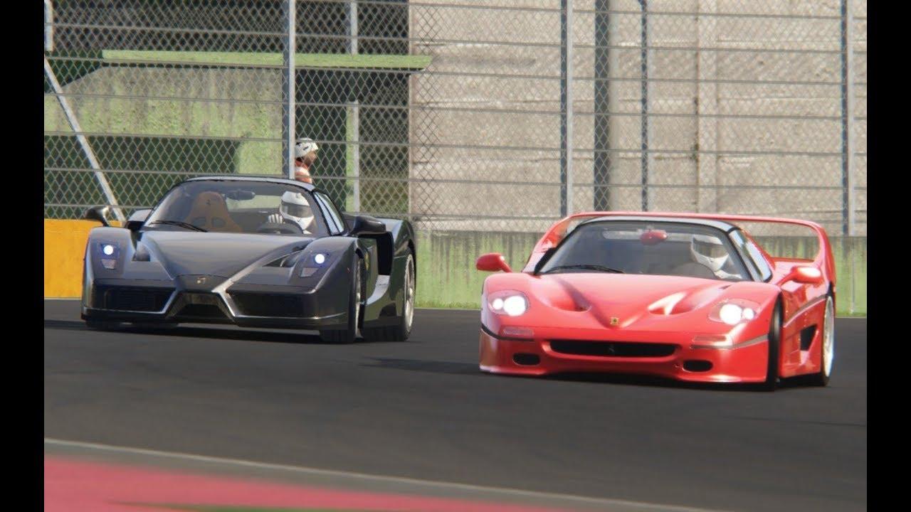 Ferrari Enzo 2002 vs Ferrari Omologata 2020 at Highlands