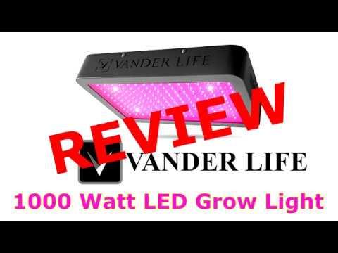 Testing The Vander Life 1000 Watt LED Grow Light - Peppers Stevia And Flowers