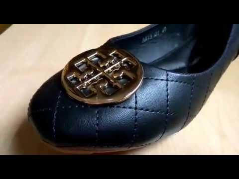 8973ba82074c Tory Burch Sepatu Import murah Flat Shoes Review - YouTube