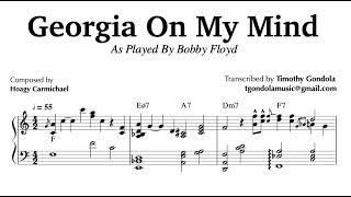 Georgia On My Mind| Bobby Floyd Piano Transcription