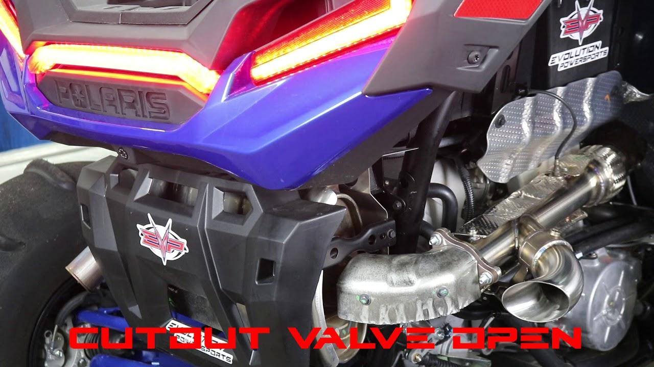 evp polaris xp turbo shocker side dump exhaust pipe