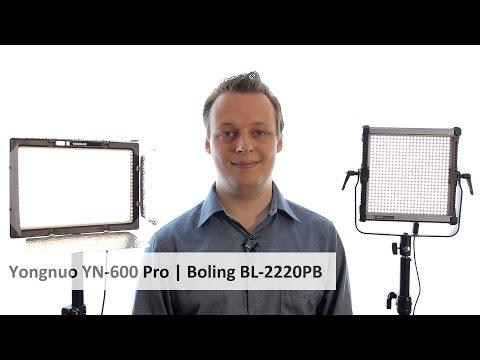 2 Video-LEDs im Vergleich: Yongnuo YN-600 Pro vs. Boling BL-2220PB [Deutsch]