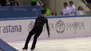 Разминка Дениса Тена на льду Универсиады в Алматы