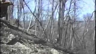 Bell Feller Buncher Cutting on Hillside