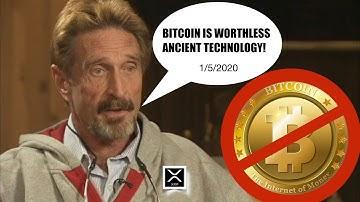 "BREAKING NEWS! John McAfee DROPS BITCOIN! ""It's Worthless Ancient Technology!"" Is BTC a ShatCoin?"
