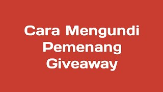 Tutorial Mengacak Pemenang Giveaway | Youtube Random Comment Picker