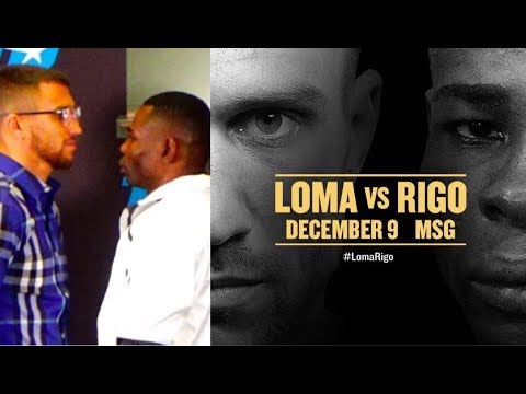 THE STAREDOWN! LOMACHENKO & RIGONDEAUX COME FACE TO FACE AHEAD OF DREAM BOUT IN NEW YORK