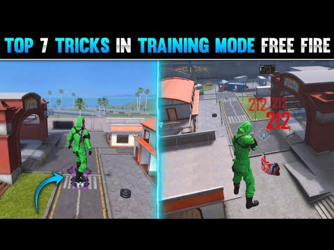 TOP 7 TRICKS IN TRAINING MODE FREE FIRE   NEW SECRET TRICKS IN TRAINING MODE IN GARENA FREE FIRE