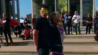 live with regis and kelly live s halloween flash mob