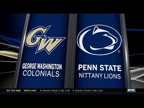 George Washington at Penn State - Men's Basketball Highlights