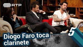 Diogo Faro toca clarinete   5 Para a Meia-Noite   RTP