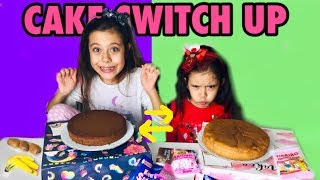 CAKE SWITCH UP CHALLENGE !! Pasta Yapımı Challenge - Funny kid video