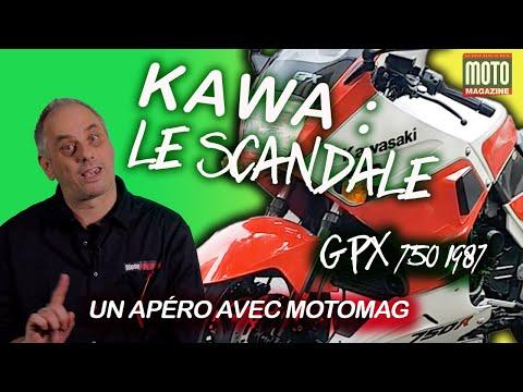 KAWASAKI GPX 750 1987 : LE SCANDALE ! Apéro Motard de Moto Magazine