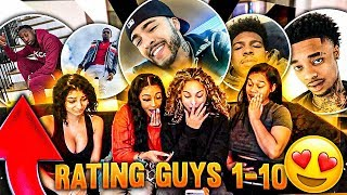Rating Youtuber's / Celebrity Guys from 1-10!!! Ft. Diamond Nyree Valentine