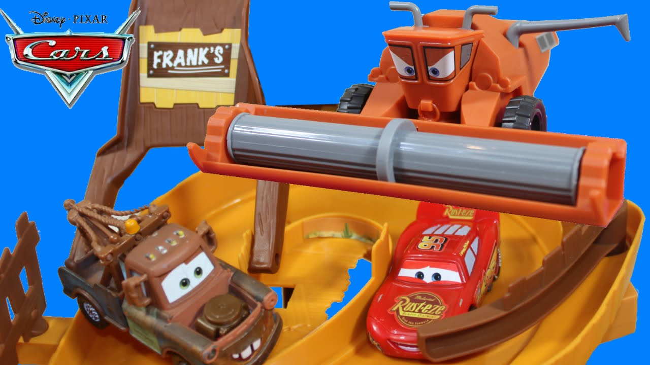 Disney Pixar Cars Escape From Frank The Combine Tractor Tipping