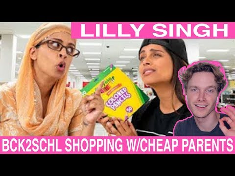 Lilly Singh Back to School Shopping with Cheap Parents reaction   Tyler Wibstad