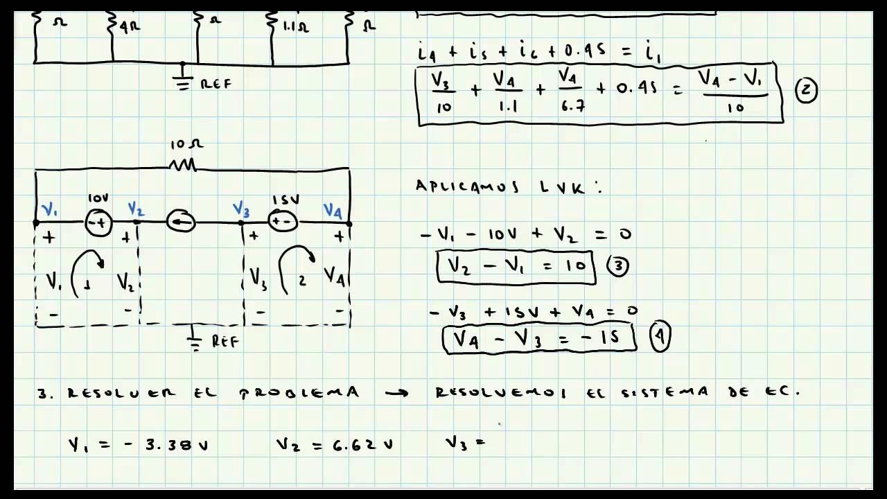 Analisis De Nodos Supernodos Ejercicio De Aplicacion
