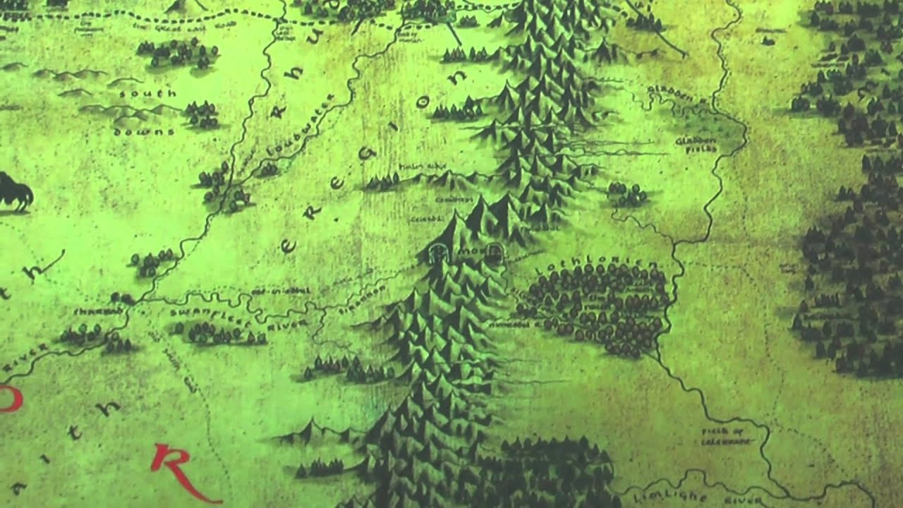 the noble collection map of middle earth hobbit review by movie figures youtube