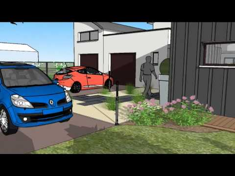 Vid o sketchup d 39 un am nagement de jardin priv youtube for Sketchup jardin