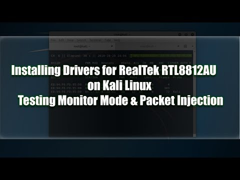 Installing rtl8812au Drivers on Kali Linux