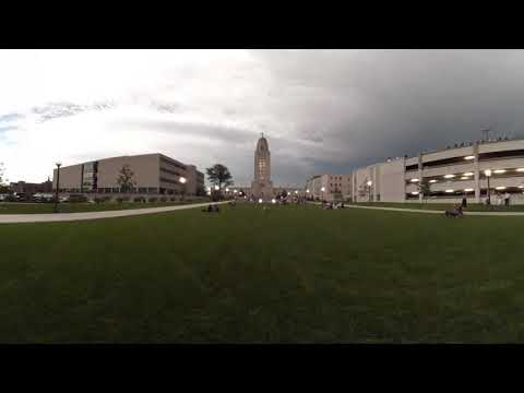 Lincoln Nebraska eclipse 2017 in 360 ... in 60 seconds