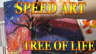 Video SPEED ART #009 Tree of life Space abstract download MP3, 3GP, MP4, WEBM, AVI, FLV Juni 2018