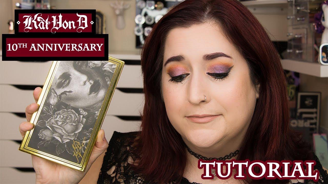 Kat Von D 10th Anniversary Eyeshadow Tutorial Geek Out Of