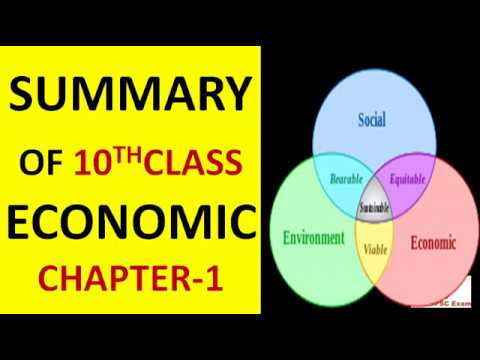 Economic Summary Lecture series(L-5)-Class X ,Chapter-1 Development