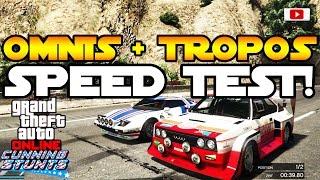 GTA 5 Online - Omnis & Tropos Speed Test VS. Massacro, Jester u.a.! [Cunning Stunts Update]