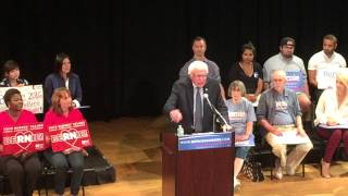 Bernie Sanders live at The Town Hall, New York City, 9/18/15.