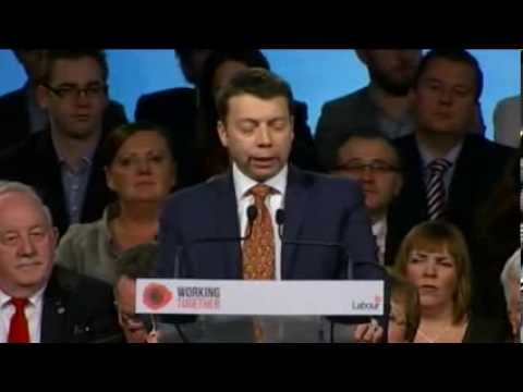 Ian McNicol addressing the Labour Party conference 2014