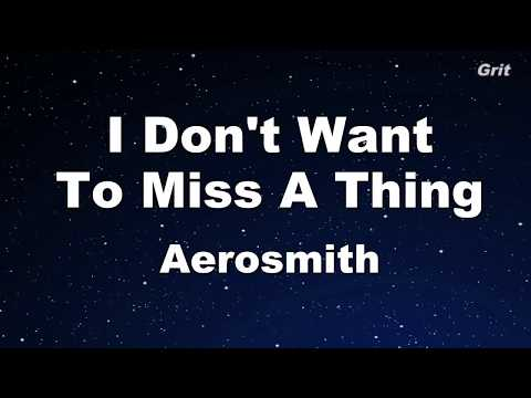 I Don't Want to Miss a Thing - Aerosmith Karaoke【No Guide Melody】