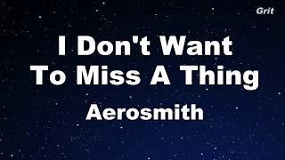 I Don't Want to Miss a Thing - Aerosmith Karaoke【No Guide Melody】