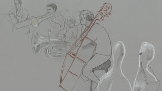 Reportage Drawings of the Philharmonia Orchestra and the London Symphony Chorus