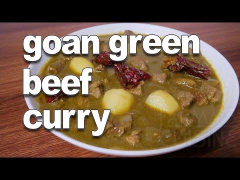 Beef Curry Green | Goan Green Beef Curry Recipe | Authentic Goan Recipes | Beef Recipes