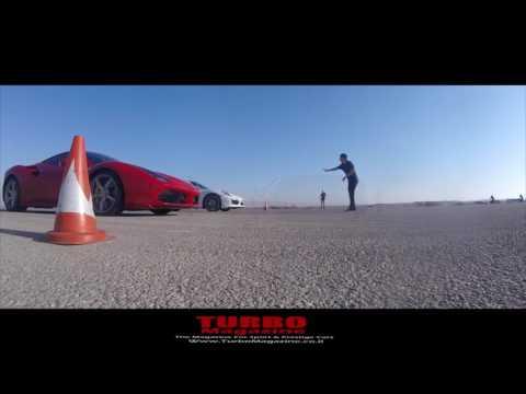 TurboMagazine Drag day :  FERRARI 488GTB 670hp Stock   vs   PORSCHE 911 Turbo S  RUF 630 hp