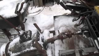 Соединения КПП на самодельном мини тракторе