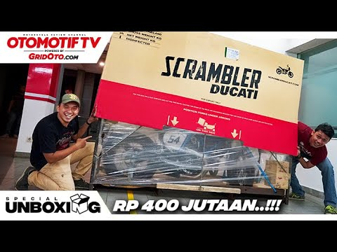 Unboxing Cafe Racer Rp 400 Jutaan! & First Impression Scrambler Ducati 2019 l GridOto
